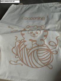 """sac en coton """"Cocooning"""""""