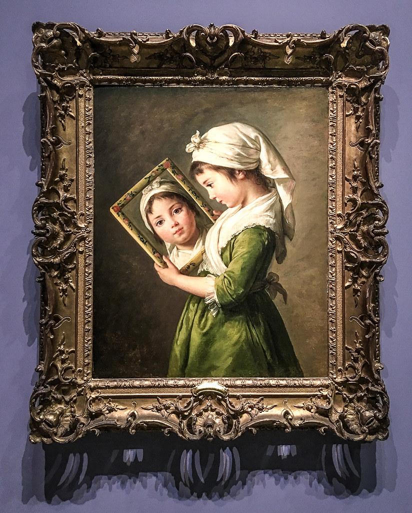 Jeanne julie louise le brun se regardant dans un miroir for Drame dans un miroir