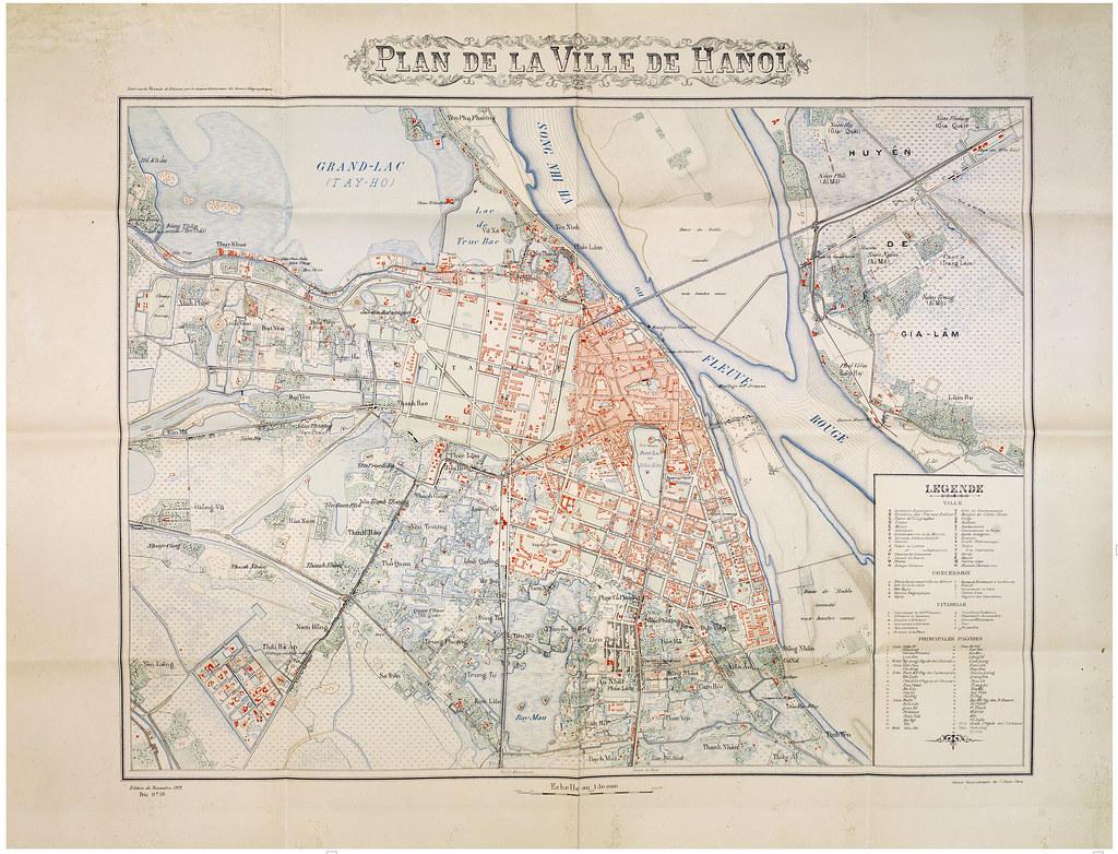 Hanoi 1902 Service Geographique De L Indochine Plan D