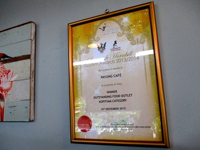 Payung Cafe certificate