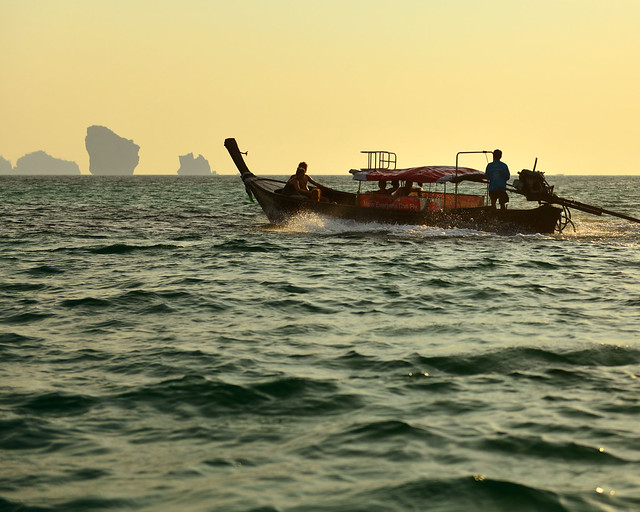 Volviendo al atardecer de Phra Nang Beach