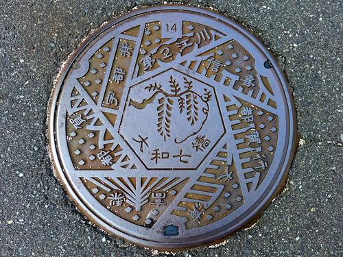 Daiwa Shimane, manhole cover (島根県大和村のマンホール)