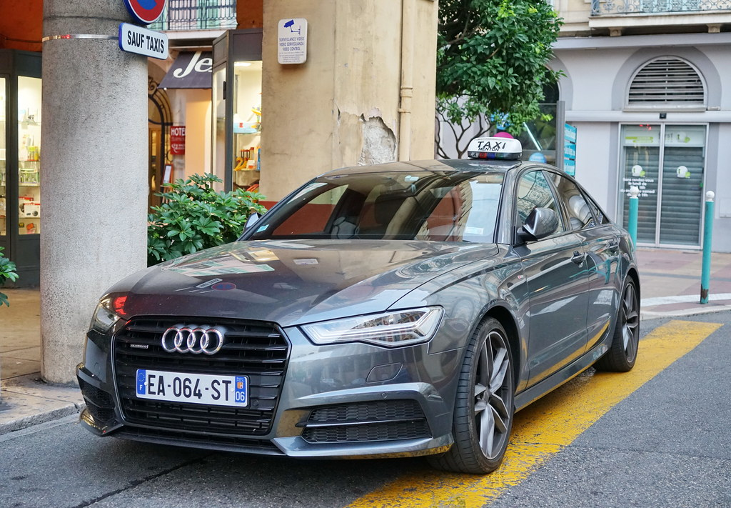 Audi A4 Taxi In Menton 20 9 2016 4517 Rn7 Route National