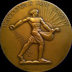 Whatsoever a Man Sowest medal by Lee Lawrie obverse