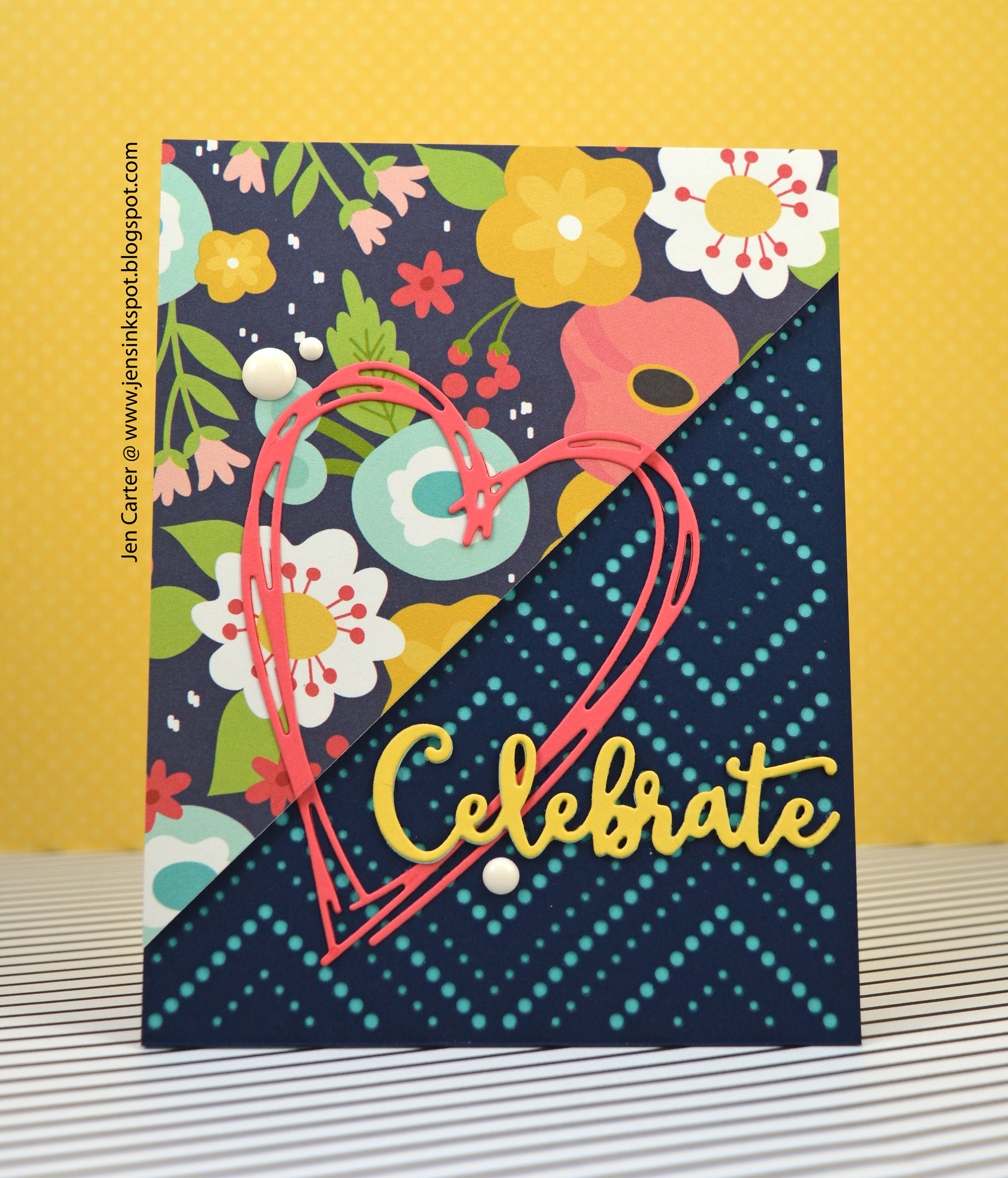 Jen Carter LID Color Block Die Celebrate 1
