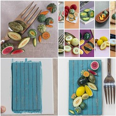 Behind the scenes + creative process around my 'Sweet Summer Melons'  http://tinyurl.com/qzodn8y 😊 And maybe a tutorial about the faux wood, but you'll have to ask on my blog 😄
