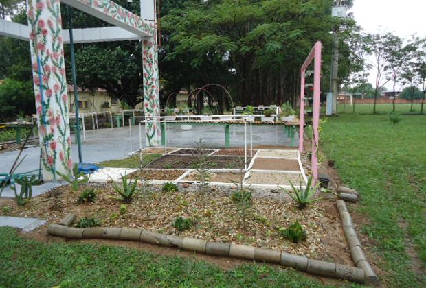 Jardim Vertical da Etec Martinho de Ciero, em Itu