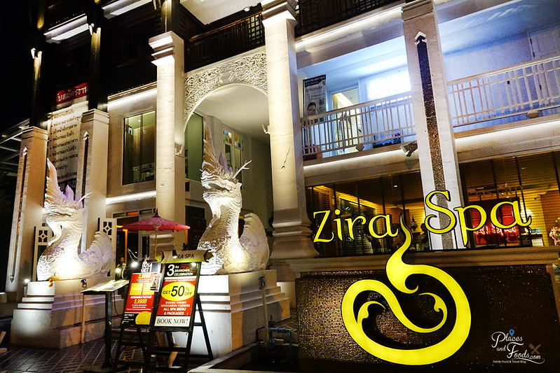 zira spa building night