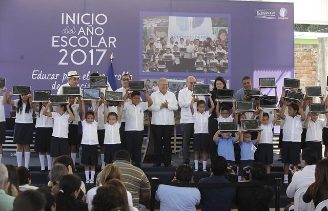 Inauguracion de Año Escolar 2017-San Esteban Catarina , San Vicente.