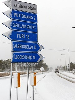 emergenza neve - strade bloccate