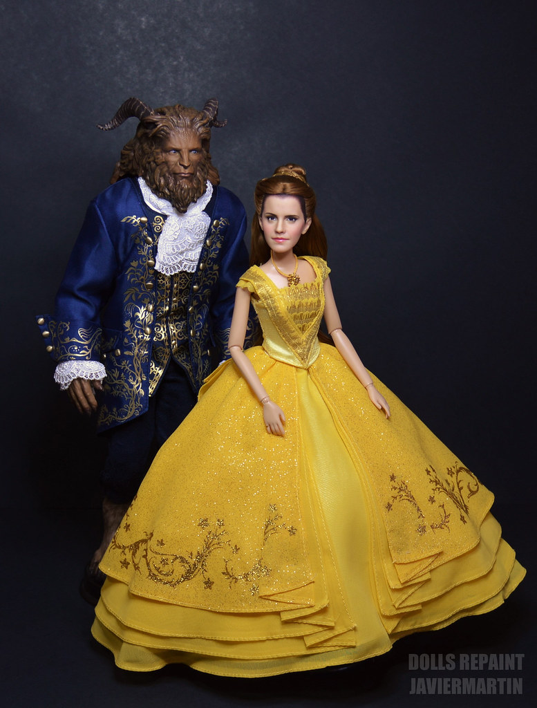 Beauty And The Beast 2017 Emma Watson Repaint Doll By