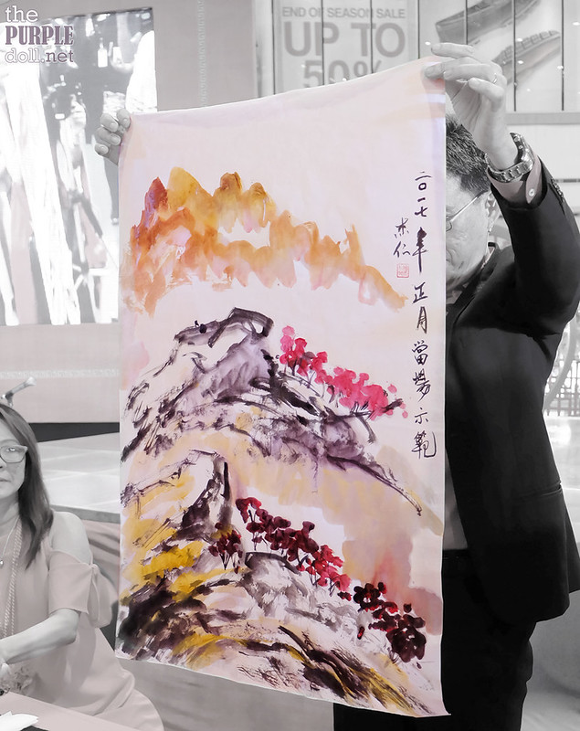 Dr Alex Chan Lim Chinese Painting On-the-Spot Painting