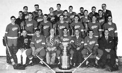 1953-54 Detroit Red Wings team