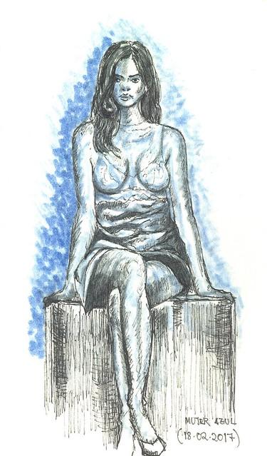 "Mujer ""azul"""