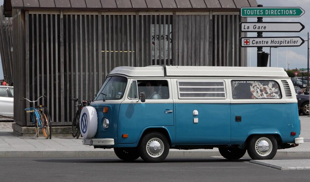 volkswagen t2 bay window saint malo arriv e du ferry flickr. Black Bedroom Furniture Sets. Home Design Ideas