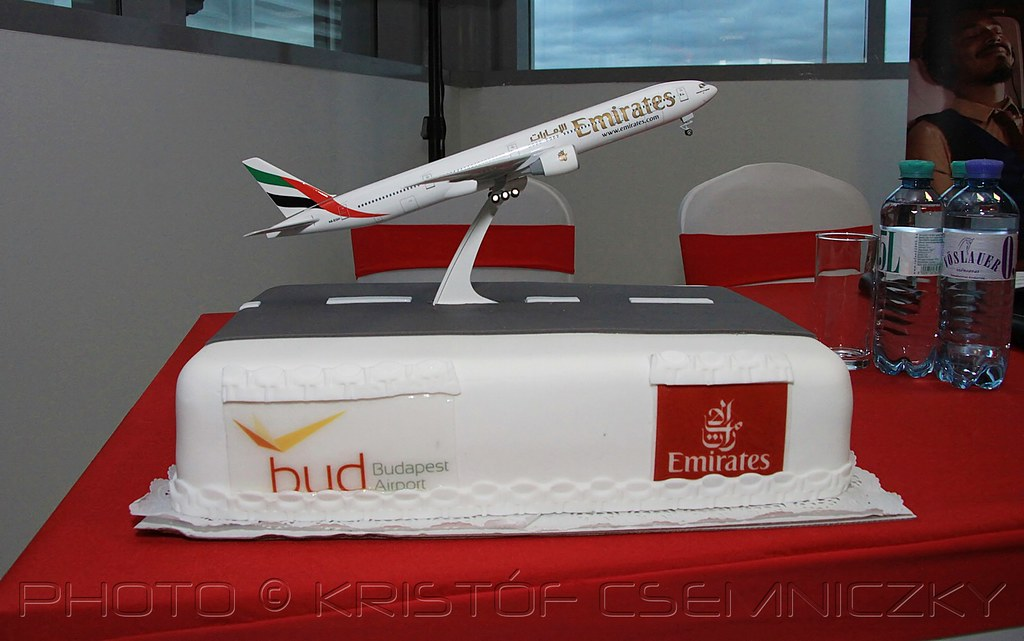 Budapest Airport Cake Welcoming The First Emirates B777
