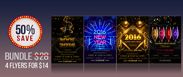 New Year Party Flyer - 1