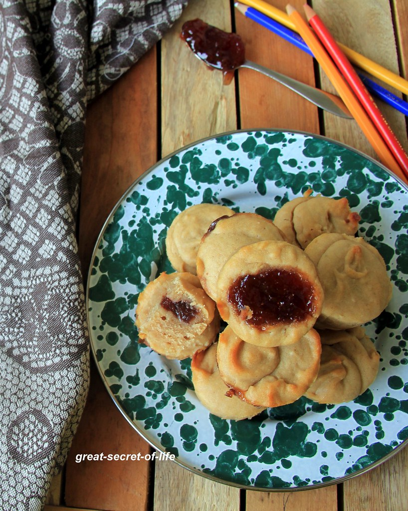 Peanut butter and Jelly Muffin recipe - Peanut butter and Jam muffin Recipe - Eggless Muffin recipe