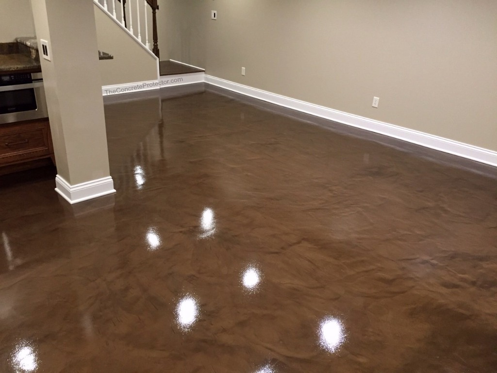 Brown Epoxy Metallic Marble- Concrete Surface and Design ...