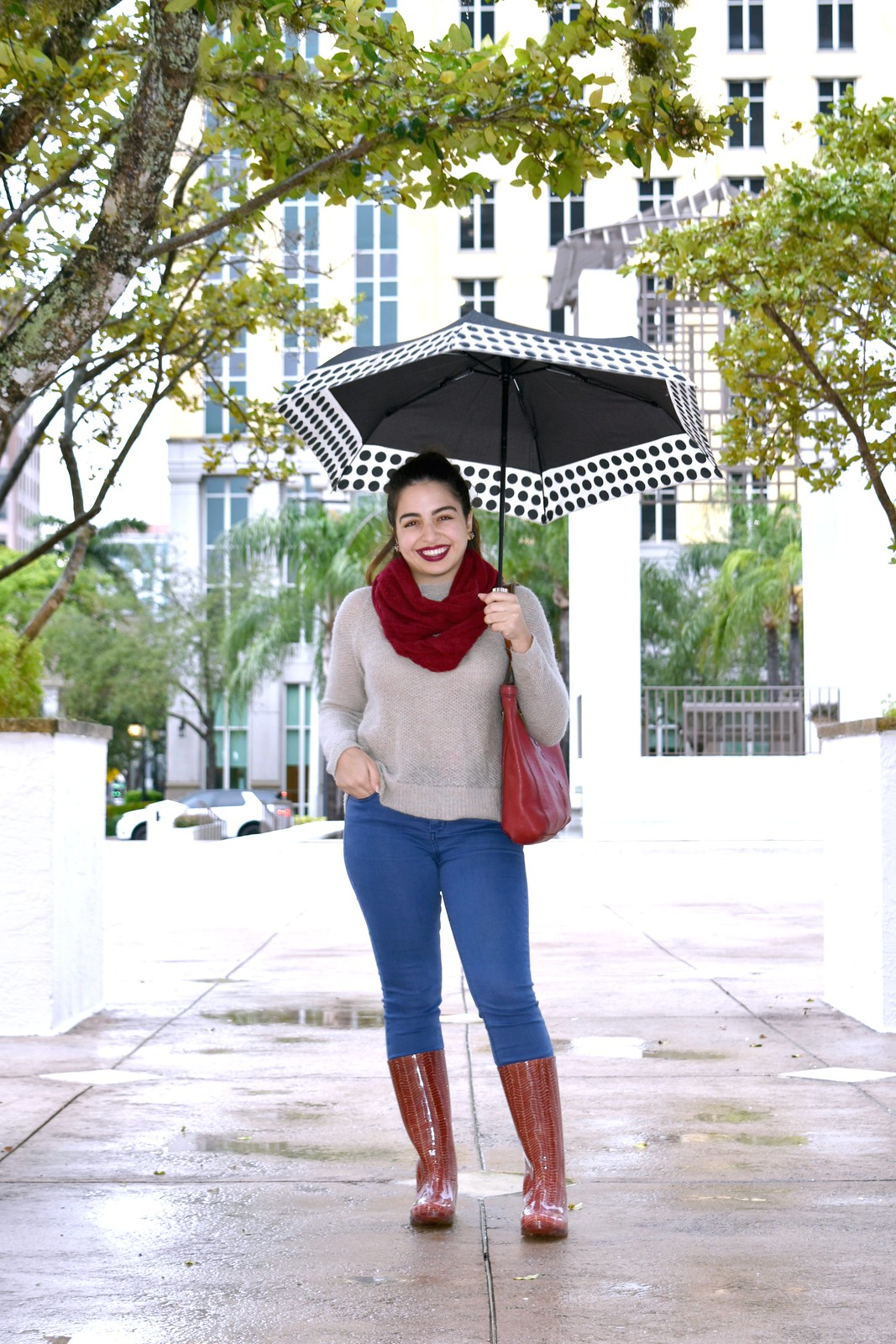 ShedRain polka dot umbrella