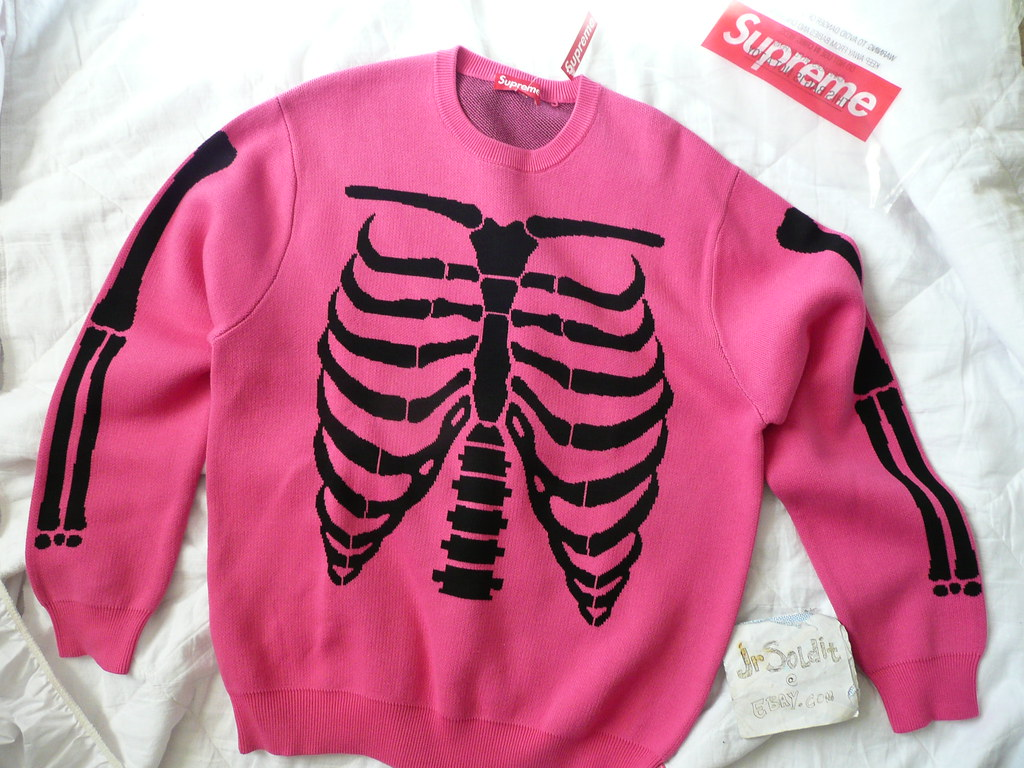 92379affc15f Details about Supreme SS17 Bones Sweater
