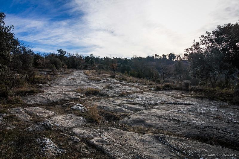 Camí Ral de Vic a Olot pasado el Puigsespedres