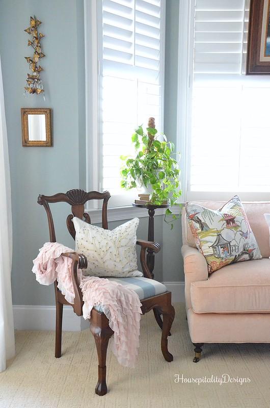 Master Bedroom-Ruffled Pink Throw-Housepitality Designs