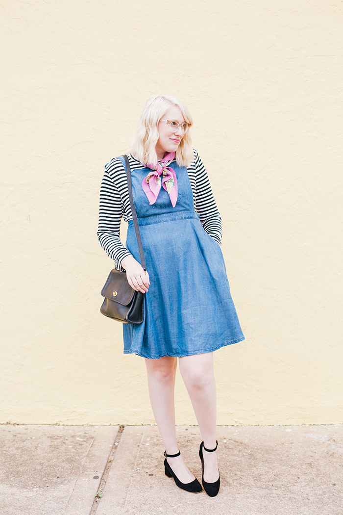austin fashion blogger modcloth jumper striped shirt