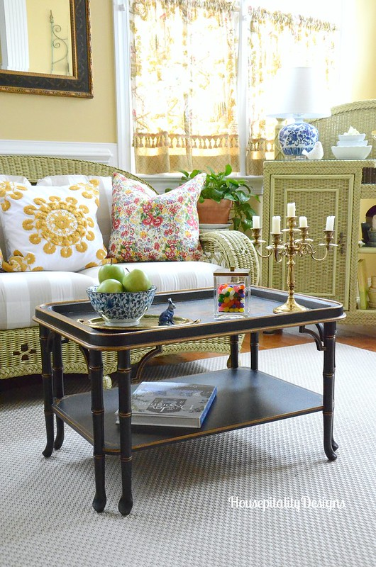 Sunroom-Spring-Spring Vignette-Chinoiserie table-Housepitality Designs