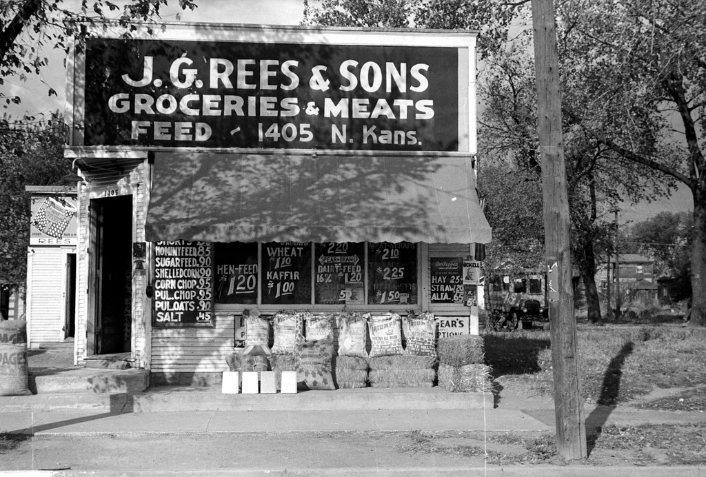 J. G. Rees & Sons, Groceries, Meats, and Feed, Topeka, Kansas.