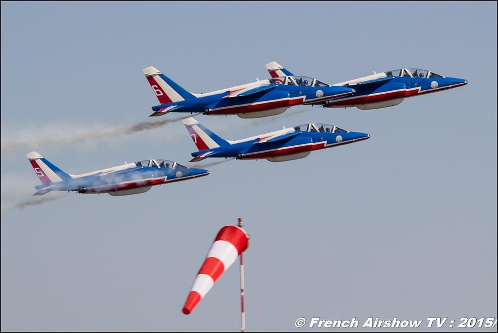 Patrouille de France , PAF 2015 , Alphajet , LA PATROUILLE DE FRANCE, 28th FAI World Aerobatic Championships 2015 , WAC 2015 - France , Championnats de Monde de Voltige aérienne 2015, Meeting Aerien 2015