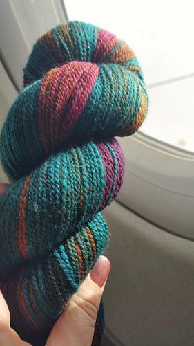 Plane knitting  Bockstark knits handspun
