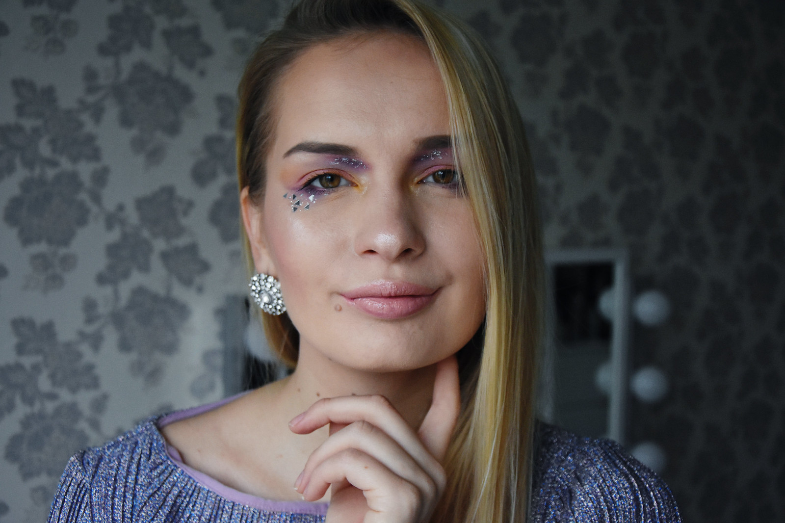 Glitter makeup look inspiration