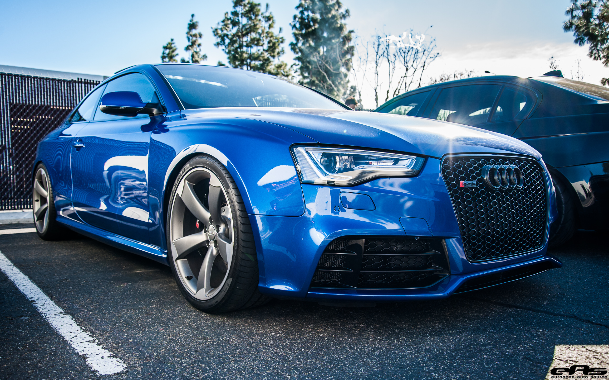Sepang Blue Audi Rs5 And Hre S101 Bmw Performance Parts