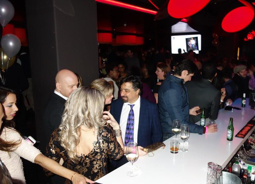 Karim Mirshahi at NYE 2016 at Houston Ave resto