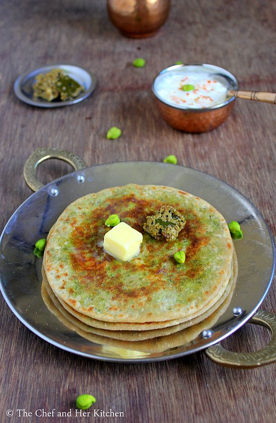 fresh chickpeas paratha