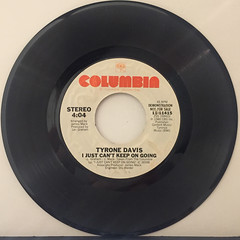 TYRONE DAVIS:I JUST CAN'T KEEP ON GOING(RECORD SIDE-B)