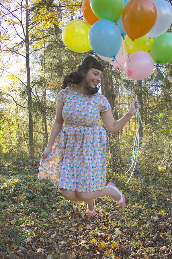 balloon jumping shot