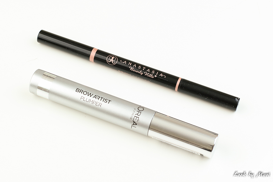 10 Anastasia Beverly Hills brow definer medium brown loreal brow artist plumper transparent review kokemuksia väri