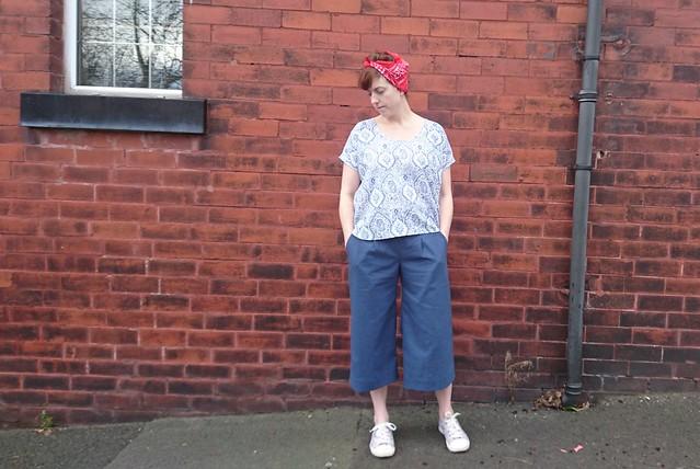 Sew DIY Lou Box Top & True Bias Emerson Pants