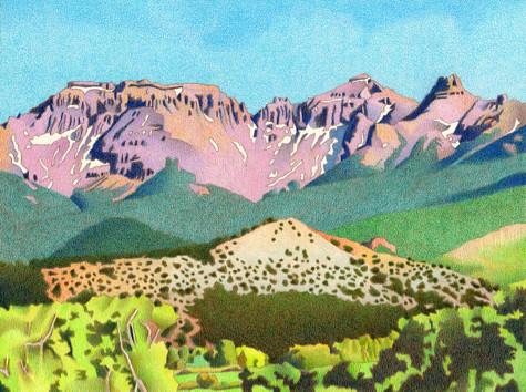 Sneffels Range. Artist Dan Miller