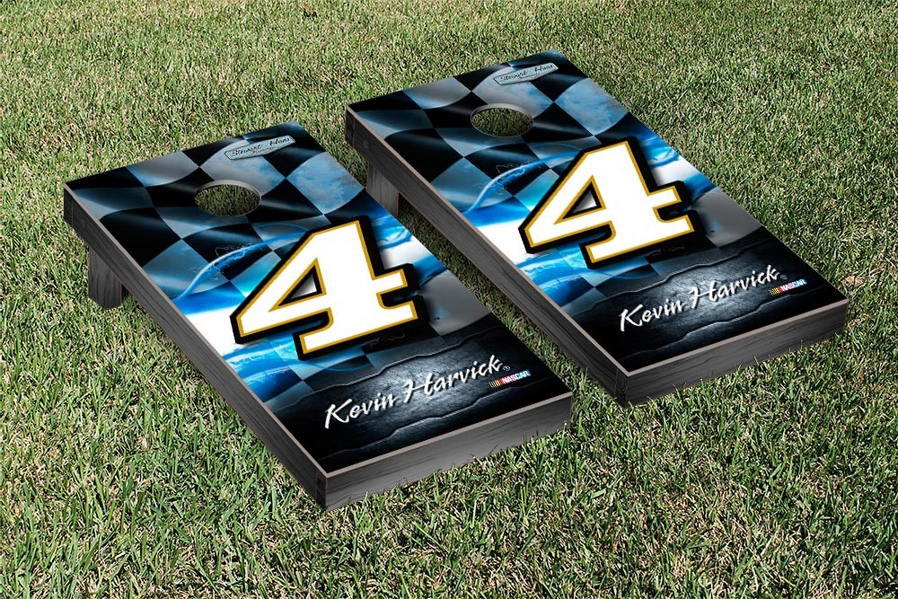 KEVIN HARVICK #4 CORNHOLE GAME SET NIGHT LIGHTS VERSION
