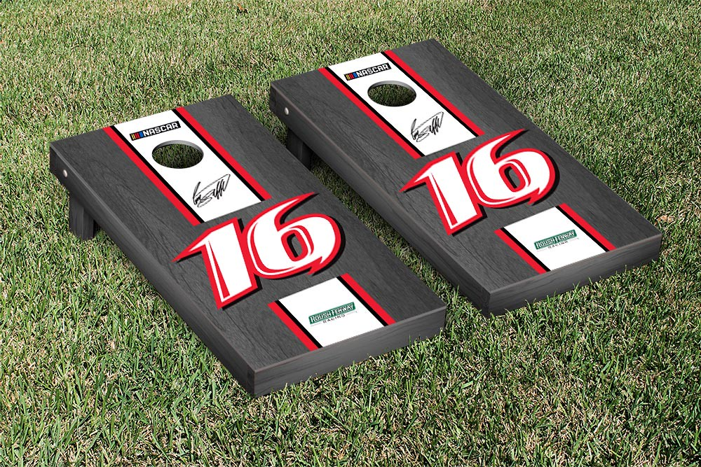 GREG BIFFLE #16 CORNHOLE GAME SET ONYX STAINED STRIPE VERSION (1)