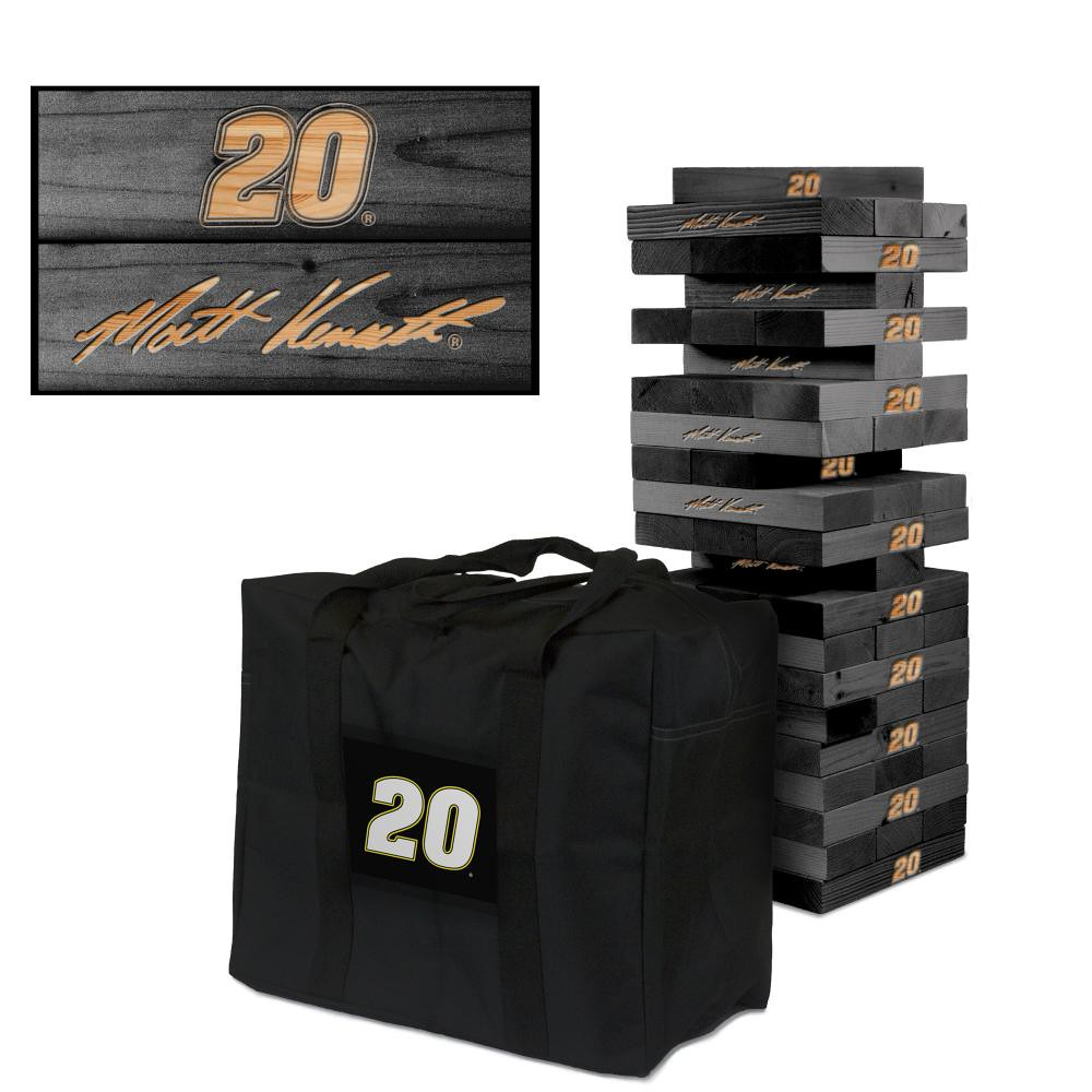 MATT KENSETH #20 Wooden Onyx Stained Tumble Tower Game (1