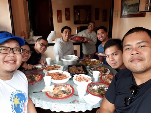 Carboloading with Team Smart at home.
