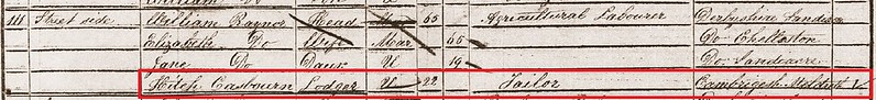 1851 census detail Sandiacre