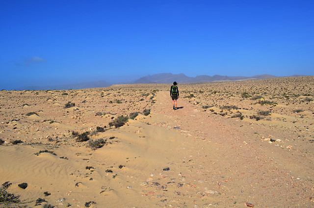 Walking in the desert, Jandia, Fuerteventura