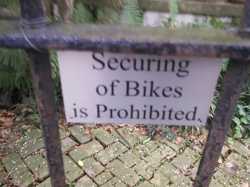 Securing of bikes