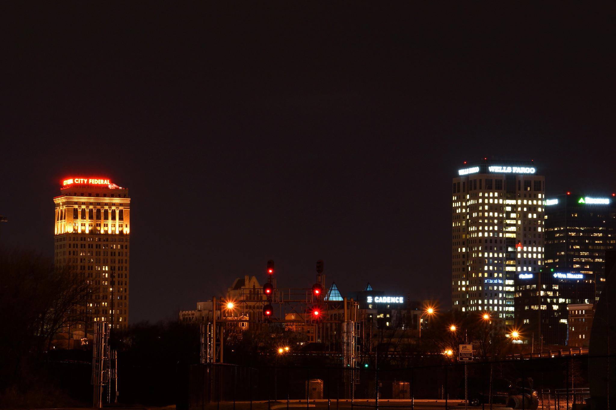 Birmingham from Behind Sloss at Night