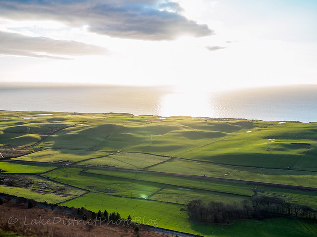 英国 イギリス 湖水地方 風景 雄大 自然 冬 海岸線 夕日